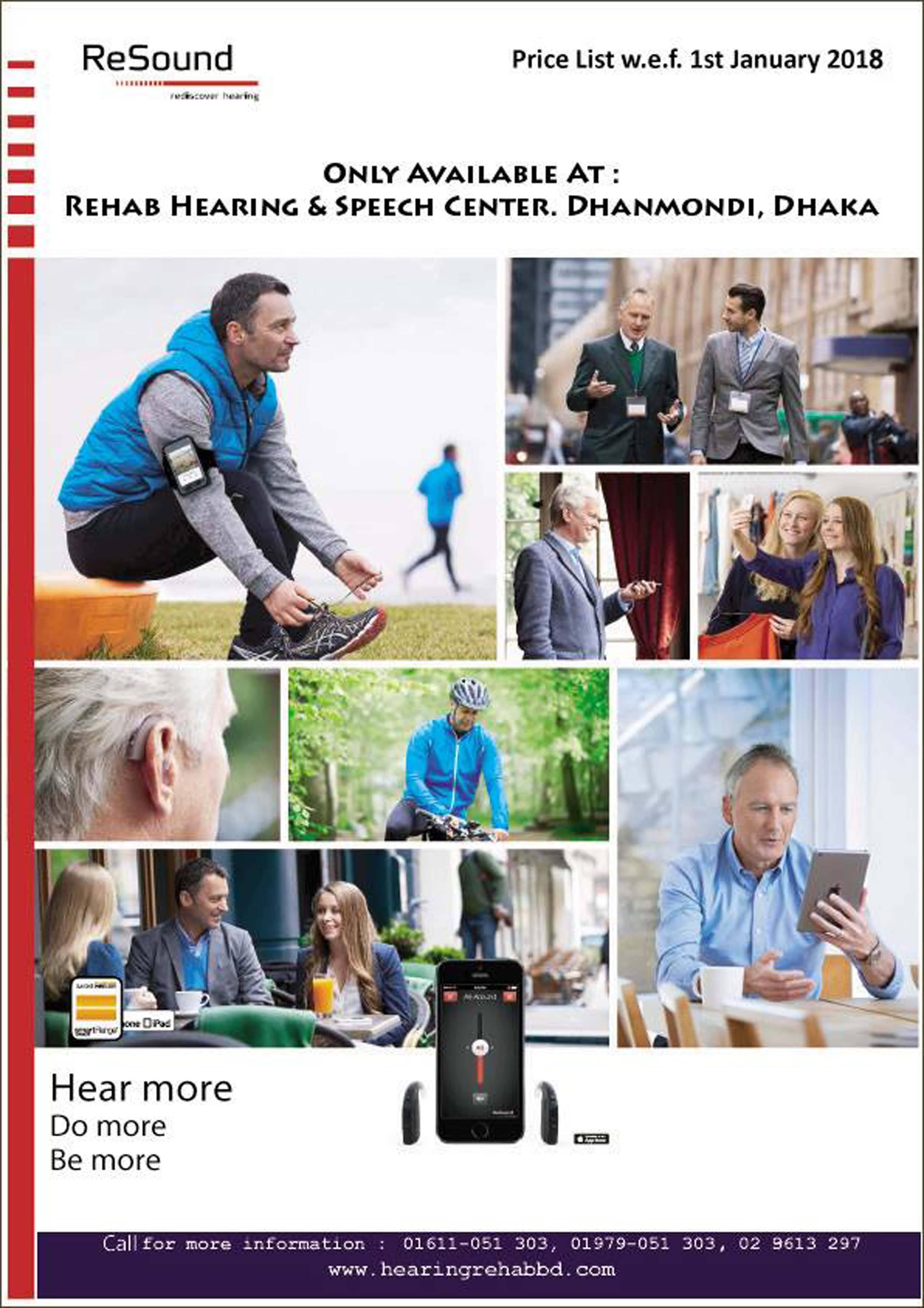 Resound Hearing Aid Price list (Denmark) - Hearing Rehab BD